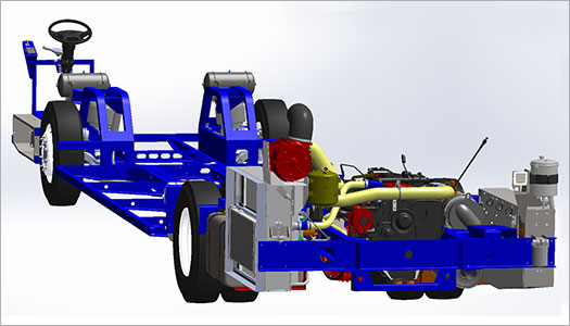 Lowfloor Bus Chassis Rear Design