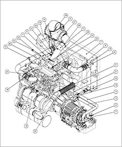 Powertrain Assembly Drawing
