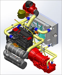 Powertrain Assembly Rendering